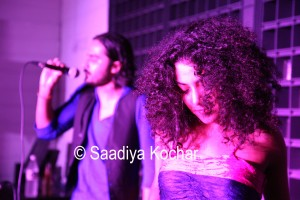 On stage with Hari Singh.