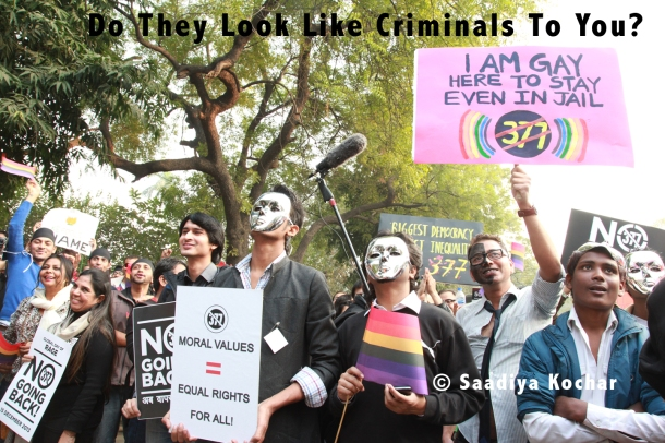 Protests By the LGBT Community in New Delhi