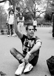 One of the few Kashmiri youth at the march. This is what he had to say to me-''You people just want our resources our land but not us.''