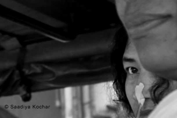 Irom Sharmila apears before the court on the 28th May 2014.