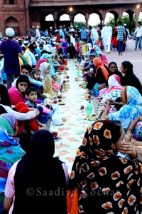 Iftiar at the Jama Masid, New Delhi.