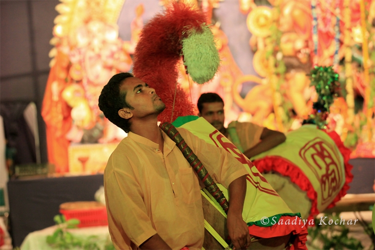 Dhak Players at the Puja