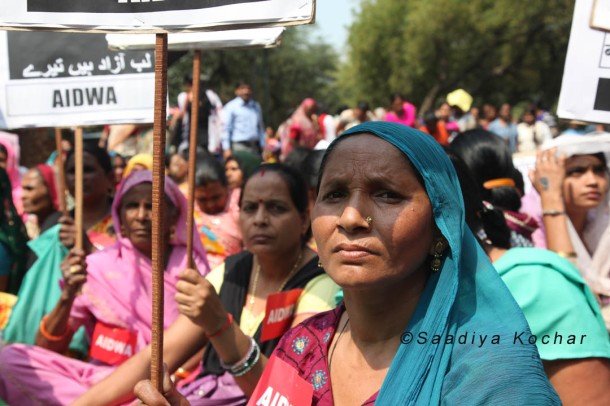 Over twenty organisations participated in the event. AIDWA was one of the main organisers of Aath March Saath March.