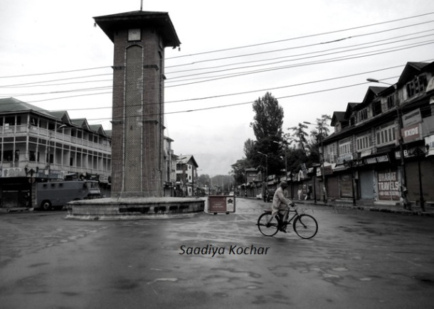 Lal Chowk on the 50th day of the unrest of 2016.