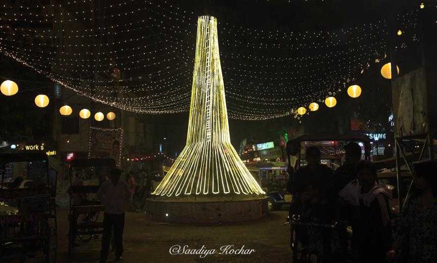 Amar Colony market On Diwali