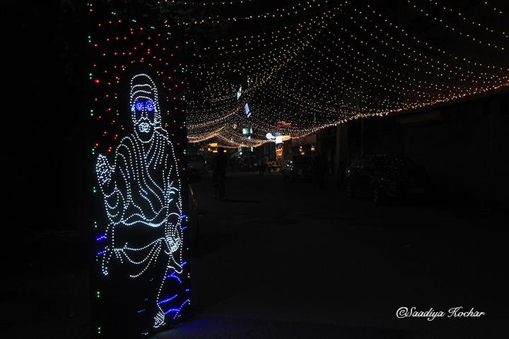 Kailash Colony market On diwali