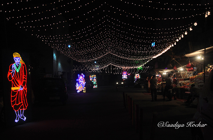 Kaiash Colony market On Diwali